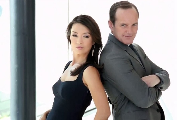 Phil Coulson and Melinda May - Clark Gregg and Ming-Na When