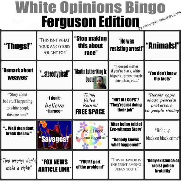 Ferguson Bingo