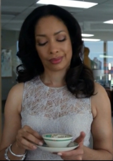 Gina serving Tea